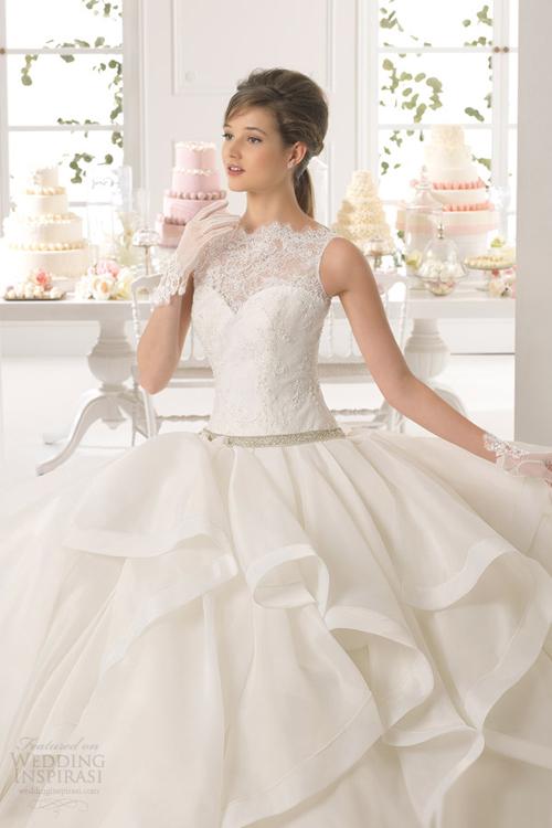Mẫu váy cưới công chúa 2015
