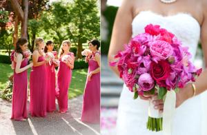 Váy phụ dâu màu hồng tím Sangria