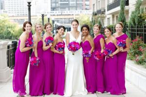 Váy phụ dâu màu tím hoa cà