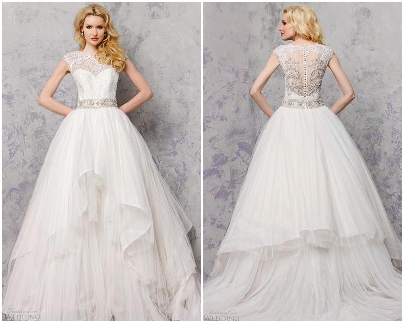 Váy cưới đẹp đính đá cầu kỳ không tay