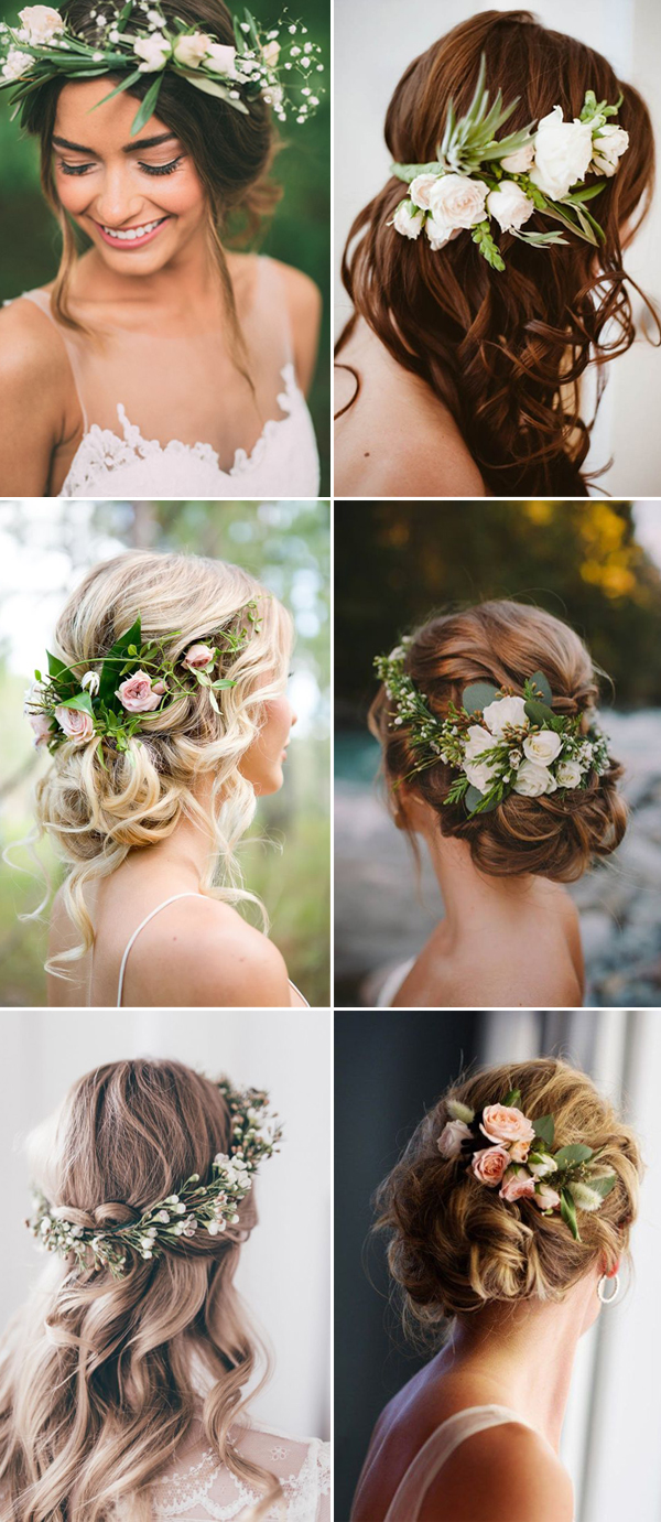 wedding-hairstyles-with-green-flowers